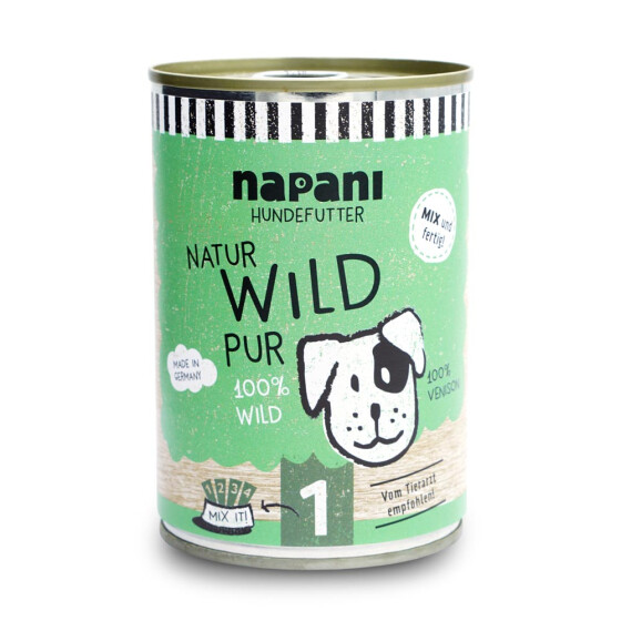 Dosenfutter f. Hunde, Wild pur