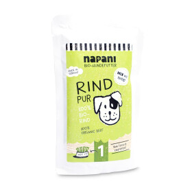 Bio-Nassfutter f. Hunde, Rind pur, 150g