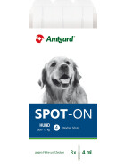 Amigard Spot-on Hund 15 Kg bis 30 Kg, 3 x 4ml