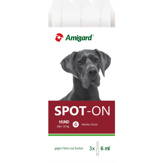 Amigard Spot-on Hund über 30 Kg, 3 x 6ml